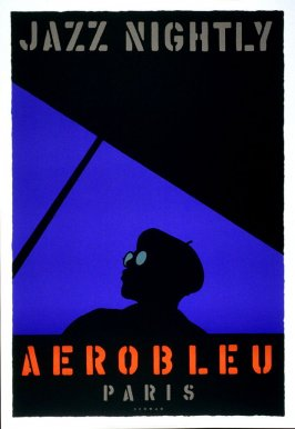 Aerobleu, poster for Bruce McGraw Galleries