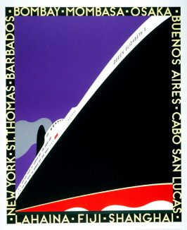 Queen Elizabeth, poster for Calsonic Mira Graphics Inc.