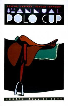 Eighth Annual Polo Cup, poster for Polo Retail Corporation, Denver