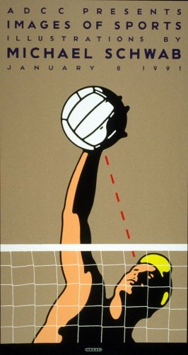 Volleyball, poster for Telekom