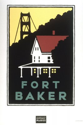 Fort Baker, from a series of posters for the Golden Gate National Parks