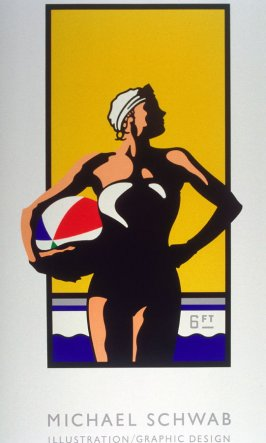 Girl with Beach Ball, poster for Image Bank