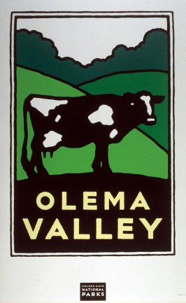 Olema Valley, from a series of posters for the Golden Gate National Parks
