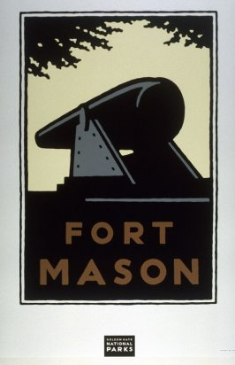 Fort Mason, from a series of posters for the Golden Gate National Parks
