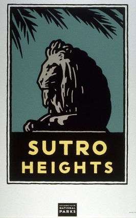 Sutro Heights, from a series of posters for the Golden Gate National Parks