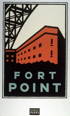 Fort Point, from a series of posters for the Golden Gate National Parks