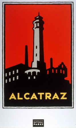 Alcatraz, from a series of posters for the Golden Gate National Parks