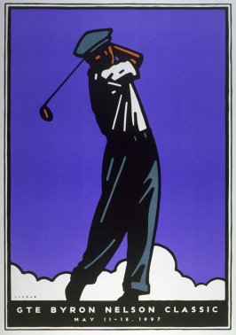 Byron Nelson Classic, poster for Salesmanship Club of Dallas/ GTE Byron Nelson Classic