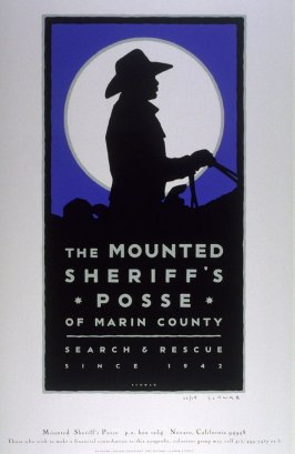 Sheriff's Posse, pro bono poster for the Marin County Sheriff's Posse