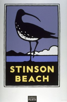 Stinson Beach,from a series of posters for the Golden Gate National Parks