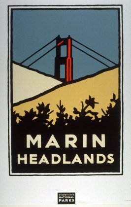 Marin Headlands, from a series of posters for the Golden Gate National Parks