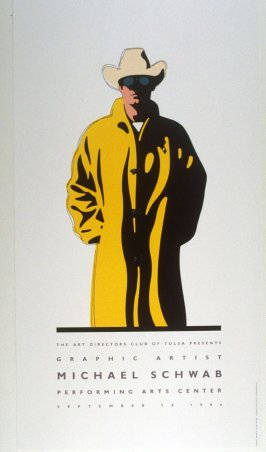 Schwab inTulsa, poster for the Art Directors Club of Tulsa