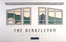 The Berkeleyan, one of three posters for Panoramic Interests celebrating new Berkeley landmarks