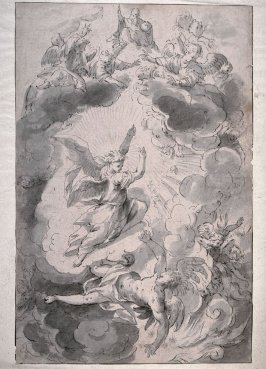 Fall of Lucifer (study for painting on the high altar of St. Michael's, Munich)