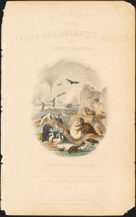 Frontispiece from the volume A History of the Earth and Animated Nature