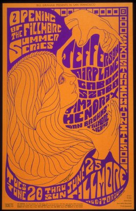 Jefferson Airplane, Garbor Szabo, Jimi Hendrix, June 20 - 25, Fillmore Auditorium