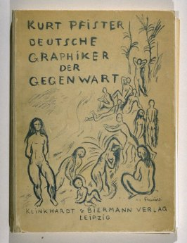 Badende (Bathers), cover of the book, Deutsche Graphiker der Gegenwart (Contemporary German Graphic Artists) (Leipzig: Verlag von Klinkhardt & Biermann, 1920)