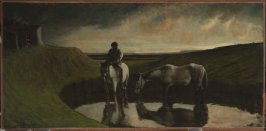Landscape with Horses and Peasant Boy