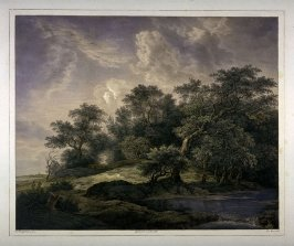 Landscape with trees and a small river