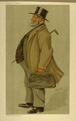 """Mr. Solicitor"" (Sir John Rigby, Q.C., M.P.) Statesman No. 617, from Vanity Fair, August 31, 1893"