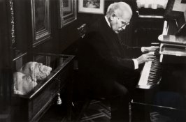 Arturo Toscanini in his Library, Milan, Italy