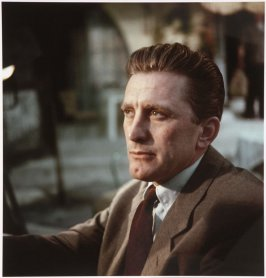Kirk Douglas on the set of The Art of Love, Paris, France