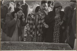 Women mourn at the funeral of an Israeli watchman slain during a border incident at Beth Hafafa, Jerusalem, Israel