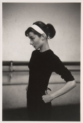 "Audrey Hepburn rehearsing for ""Funny Face"", Paris, 1956."