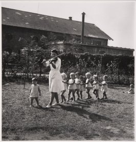 A state-run kindergarten. Hungary, 1948.