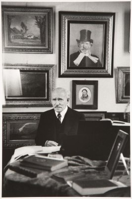 The conductor Arturo Toscanini in his study, Milan, Italy