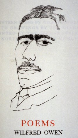 Poems/Wilfred Owen, first plate (portrait) in the book Thirteen Poems (Northampton, MA: Gehenna Press, 1956)