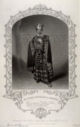 Mr. M'Kean Buchanan as Macbeth, Act III, Scene I.
