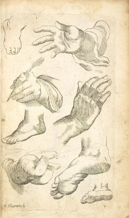 Illustration 5 in the book Polygraphice: The Arts of Drawing, Limning,Painting &c. by William Salmon (London: Thomas Passinger and Thomas Sawbridge, 1685)