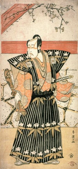 Ichikawa Yaozo III as a Lord Holding an Heirloom Sword, panel of a polyptych