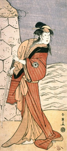 Iwai Hanshiro IV as a Woman with a Sword, panel of a polyptych
