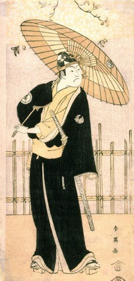 Iwai Hanshiro IV as Sukeroku, panel of a polyptych