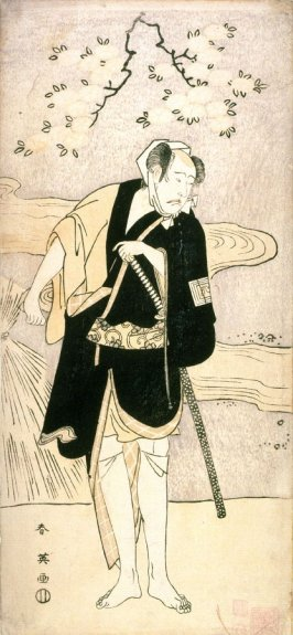 Ichikawa Yaozo III as a Young Man by a Stream, panel of a polyptych
