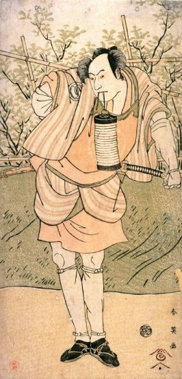 Sawamura Sojuro III as Umo no Yoshibei(?), panel of a polyptych
