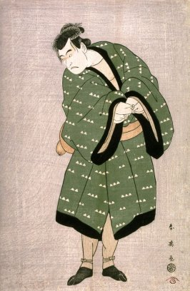 The Actor Morita Kan'ya VIII as Okaru's Brother, Teraoka Heiemon, in the Gion Teahouse Scene from Act 7 of the play The Storehouse of Loyality (Kanadehon Chushingura)