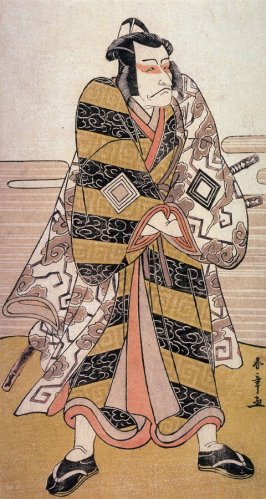 Ichikawa Danjuro V as Fuwa Banzaemon, panel of a polyptych