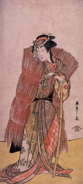 The actor Segawa Kikunojo II (or Kikujiro) as a Woman in a Straw Wrapper