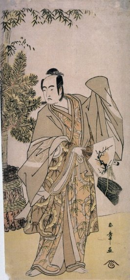 Sawamura Sojuro III as a Manzai Dancer, panel of a polyptych