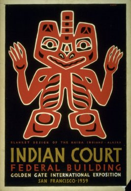 Blanket Design - Indian Court Series, Federal Building, Golden Gate International Exposition 1939 (1 of a series of 5 designs)