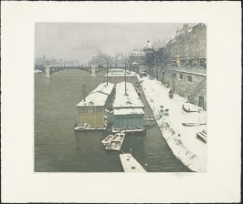 Quai Voltaire in Winter, Paris