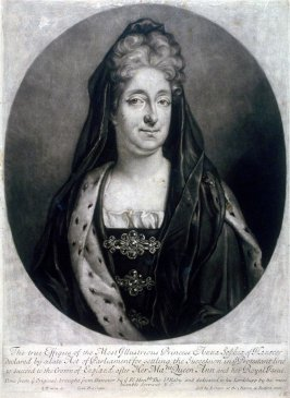 Portrait of Princess Anna Sophia of Hanover to succeed on the throne of England after Her Majestie Queen Ann