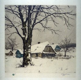 Landscape in the snow