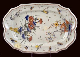 Platter, Kakiemon decoration