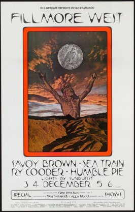 Savoy Brown, Sea Train, Ry Cooder, Humble Pie, December 3 - 6, Fillmore West