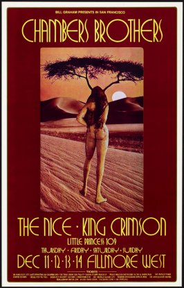 Chambers Brothers, Nice, King Crimson, December 11 - 14, Fillmore West