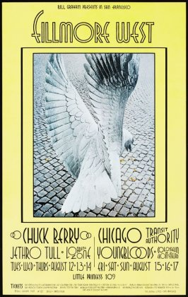 Chuck Berry, Jethro Tull, Loading Zone, Chicago Transit Authority, Youngbloods, Colosseum, August 12 - 17, Fillmore West